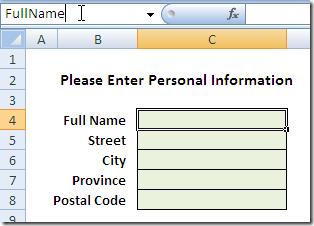 Name Box