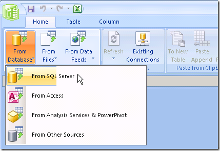 PowerPivot for Excel Data
