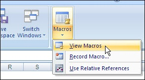 Excel Ribbon View Macros