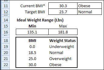 weight excel