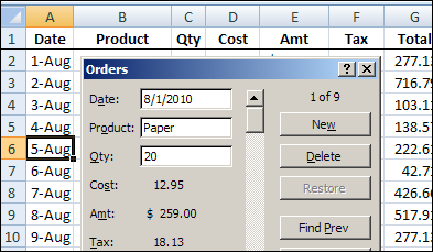 Mysteries of the Excel Data Form - Contextures Blog