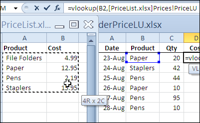 Excel VLOOKUP From Another Workbook - Contextures Blog