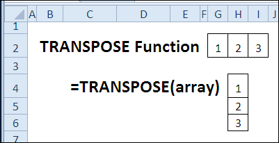 30 Excel Functions in 30 Days: 13 – TRANSPOSE - Contextures Blog