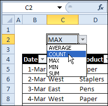 Change Functions With Excel Drop Down List - Contextures Blog