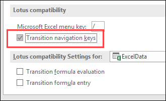 Transition Navigation Keys