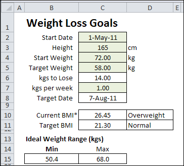 Download The Excel Weight Tracker Metric