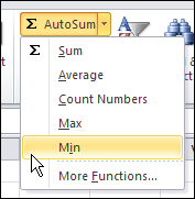 AutoSum functions