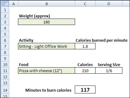 Excel Calorie Burn 04