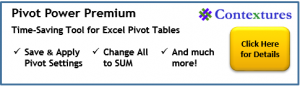 Pivot Power Premium Add-in