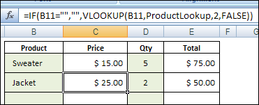 Excel Price List With VLOOKUP and MATCH Function - Contextures Blog