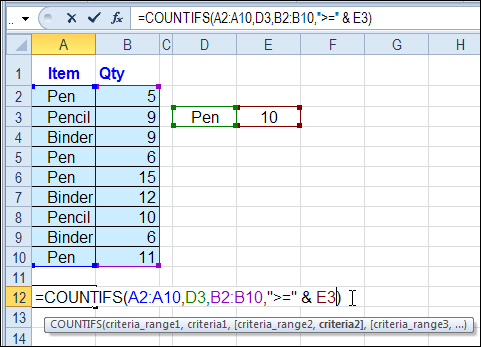 Use Excel Countifs To Count With Multiple Criteria