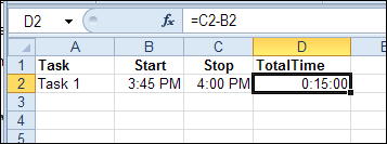 Keep Track of Time in Excel - Contextures Blog