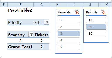 math worksheet : change pivot table filter all sheets or active sheet  contextures  : Multiple Pivot Tables On One Worksheet