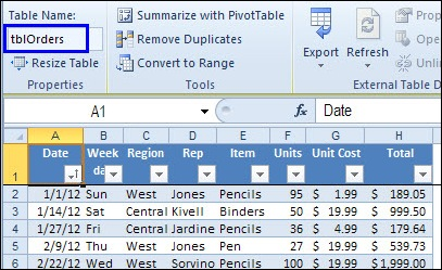 DSUM and Excel Tables: Sum With Multiple Criteria - Contextures Blog
