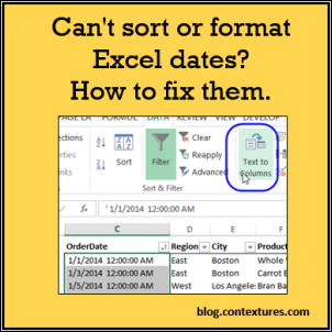 How to sort by date in excel
