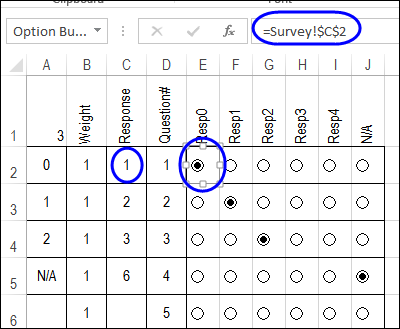 Calculate Survey Scores with Excel Option Buttons - Contextures Blog
