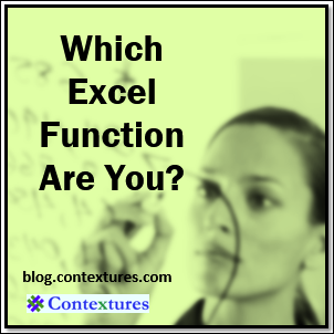 Which Excel Function Are You? blog.contextures.com/