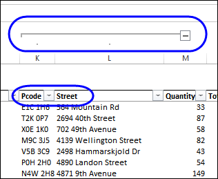 hide columns with grouping