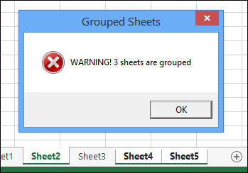 grouped sheets warning