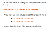 sql server download links