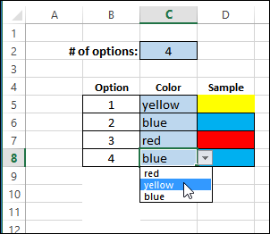 conditional formattin color http://blog.contextures.com/