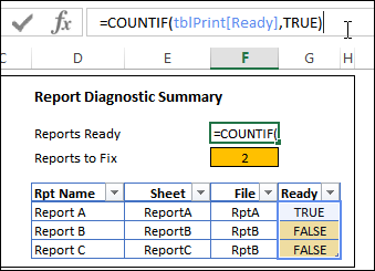 excel diagnostic report http://blog.contextures.com/