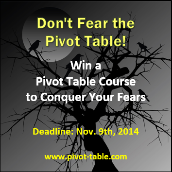 xtremepivot table giveaway www.pivot-table.com