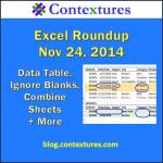 Excel Roundup 20141124