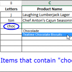 Show Drop Down List With Specific Letters