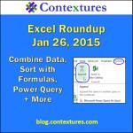 Excel Roundup 20150126