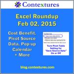 Excel Roundup 20150202