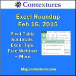 Excel Roundup 20150216