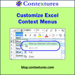 Customize Excel Context Menus