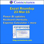 Excel Roundup 20150323