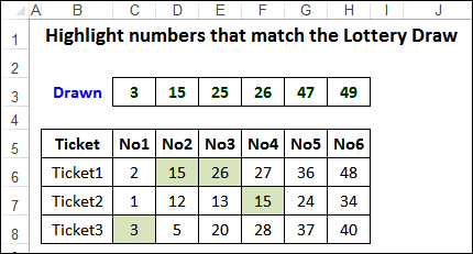 is there a formula for lottery numbers