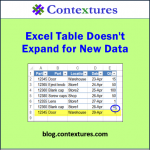 Excel Table Doesn't Expand For New Data