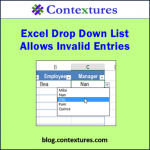 Excel Drop Down List Allows Invalid Entries