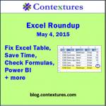 Excel Roundup 20150504