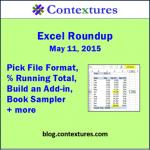 Excel Roundup 20150511