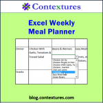 Excel Weekly Meal Planner 20150618
