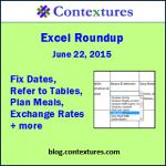 Excel Roundup 20150622
