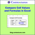 Compare Excel Worksheet Values and Formulas