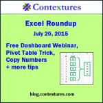 Excel Roundup 20150720