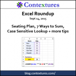 Excel Roundup 20150914