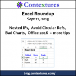 Excel Roundup 20150921