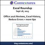 Excel Roundup 20150928