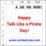Excel Can Talk Like a Pirate