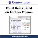 Count Items Based on Another Column