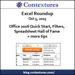 Excel Roundup 20151005