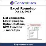 Excel Roundup 20151012